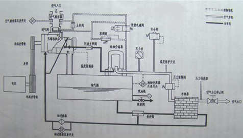 圖1   雙螺桿壓縮機結構圖